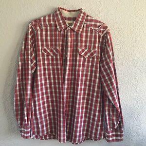 Paper Denim & Cloth Red Plaid Shirt